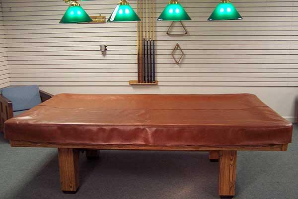 Custom Naugahide Leather Billiards Pool Table Cover