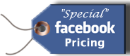 Like us on facebook for special pricing